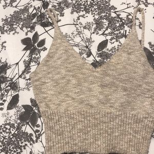 Cream colour crop top